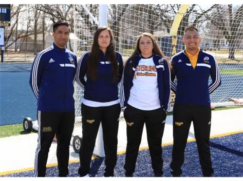 2018 Girl's Soccer Coaches (L-R): Asst Coach Chris Interone, Head Coach Alexandra Miller, Asst Coach Ali Messina, Asst Coach Ivan Chino