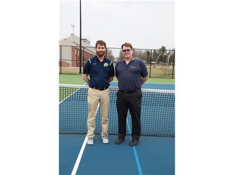 2018 Boy's Tennis Coaches (L-R): Head Coach Dan Young & Assistant Coach Mike Gottemoller