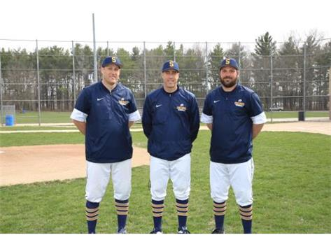 2018 Varsity Baseball Coaches (L-R): Assistant Coach Ben Anderson, Head Coach Nick Pepper, Assistant Coach Taylor Eikenberry