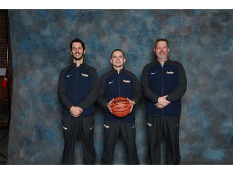 2018 Basketball Coaching Staff (L-R): Assistant Coach Dan Paufve, Varsity Head Coach Ryan Vasquez, Freshman Head Coach Darwin Nettleton *Not pictured: Sophomore Head Coach Joe Ryan, Assistant Coach Thom Shore, Assistant Coach Jeff Neubauer