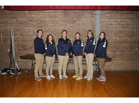 2018 Girls Basketball Coaching Staff (L-R): Freshman Head Coach Alysen Newton, Assistant Coach Amber Hayen, Varsity Head Coach Taylor Jackson, Assistant Coach Riley Johnson, Sophomore Head Coach Brenda Gould, Assistant Coach Mary George