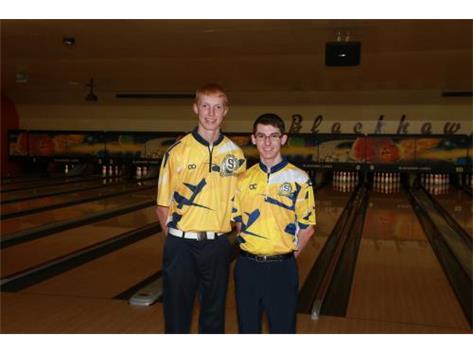 2019-20 Boys Bowling Captains (L-R): Carter Schlegel & Jordan Glazier