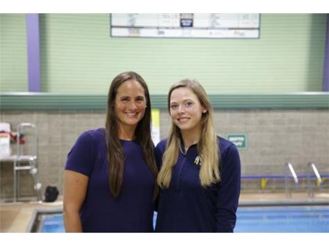 2020 Girls Swimming Coaches (L-R): Asst Coach Karina Austin & Head Coach Jordan Johnson