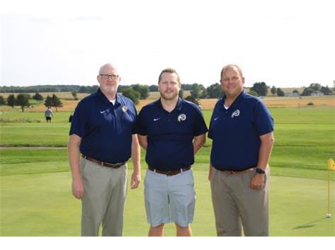 2020 Golf Coaches (L-R): Asst Coach Tim Schlegel, Asst Coach Weston Henry, Head Coach Nick Hubbard