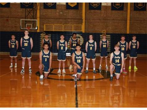 2020-21 Varsity Boys Basketball Front Row (L-R): Tyree Kelly, Antonio Tablante, Dale Guerrieri 2nd Row (L-R): Lucas Austin, JP Schilling, Carter Ryan, Kyle Billings 3rd Row (L-R): Noel Aponte, Santiago Monarrez, Trevon Jordan, Nate Ottens, Donovan Jones