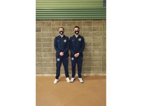 2020-21 Boys Swimming Captains (L-R): Calvin Sandefer & Reiley Austin