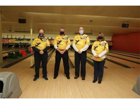 2020-21 Boys Bowling Coaches (L-R): Head Coach Loren Wolf, Asst Coach Dave Glazier, Asst Coach Tim Schlegel, Asst Coach Tracey Sivits