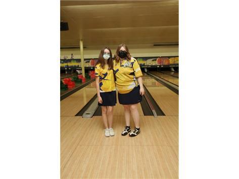 2020-21 Girls Bowling Captains (L-R): Hannah Conderman & Grace Schultz