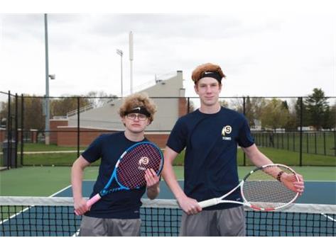 2020-21 Boys Tennis Captains (L-R): Kayden Loos & Luke Valentino
