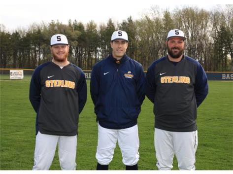 2020-21 Baseball Coaches (L-R): Asst Coach Alan Lewis, Head Coach Nick Pepper, Asst Coach Taylor Eikenberry