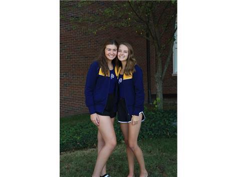2021-22 Girls Swimming & Diving Captains (L-R): Elizabeth Capes & Paige Geil