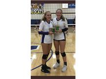 All Tournament Team at Mattoon:  Summer Brandis and Hannah Clayton
