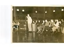 With the historic West Gym as a backdrop, the 1944 Tornadoes return as Champions to their community.