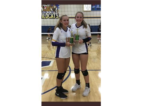 All Tournament Team at Mattoon:  Summer Brandis and Hannah Clayton