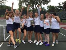 JV Tennis snags second place in the GCAC Tournament! Congrats Blazers!!  Alexa Padula 1st (2singles) Colleen Kearns/Patricia aguilar 2nd (1st doubles) Lily Boockmeier/Rebecca u 3rd (2nd doubles)