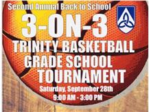 3 on 3 Basketball Tournament! Register now!