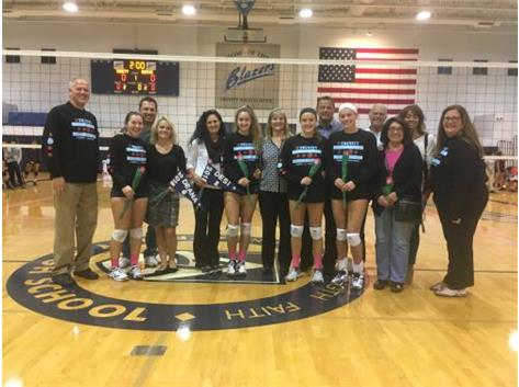 2017 Senior Night for Volleyball! Seniors: Deana Sannicandro, Desideria Paolella, Gina Grazian, Lauren Weger