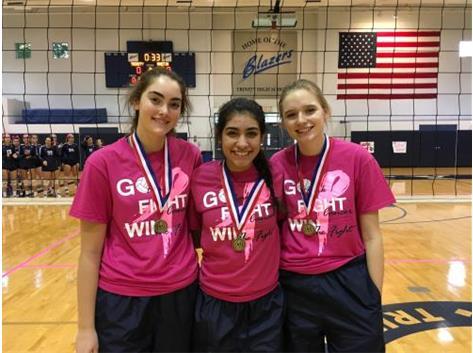 GCAC All conference! Joseline Alvarez '19, Haley Gohmann '19, Emma Jacobs '20