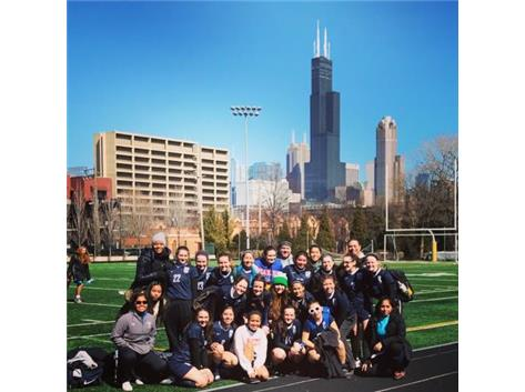 Lost today vs a very good St Ignatius team. Beautiful day for a skyline picture. Happy St Patrick's Day ????