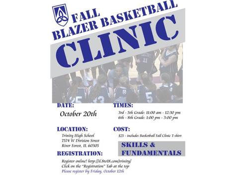 Register for our Fall Basketball Clinic!