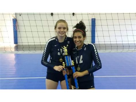 Congrats to Joseline Alvarez '19 and Emma Jacobs '20 on being named to the All Tournament Team!!