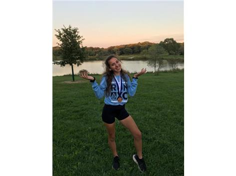 Congrats Alexis Cohn on taking 1st overall in the varsity race with a time of 19:56!