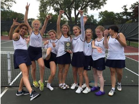 JV Tennis snags second place in the GCAC Tournament! Congrats Blazers!! 