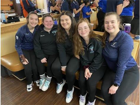Varsity bowling team bowling on MLK Day!