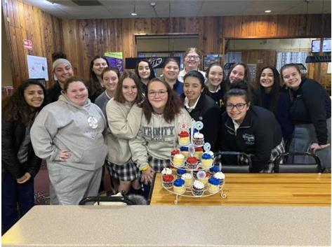 Bowling team celebrating Maisy Keith's birthday!