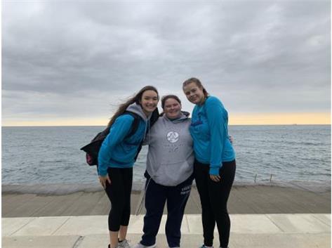 Alyssa Bennett, Bella Morini & Colleen Stumbris at the walk-a-thon!