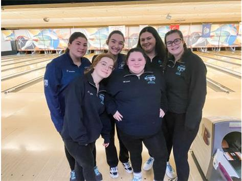 Varsity Bowling at the GCAC Conference Tournament - earned 9th place!