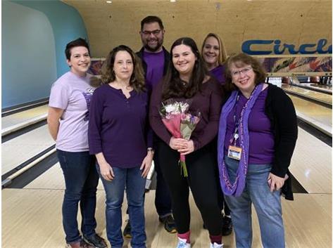 Team Purple! Caitlyn WIrkiowski!