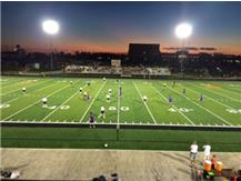 First Soccer Match on the new turf field