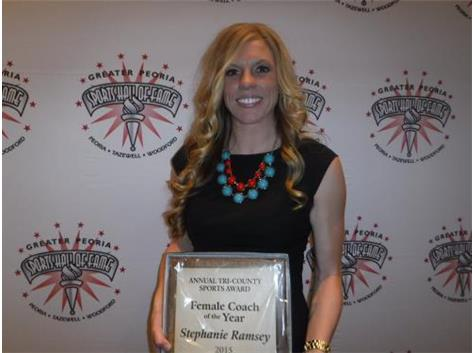 Named to the Greater Peoria Sports Hall of Fame - Coach of the Year
