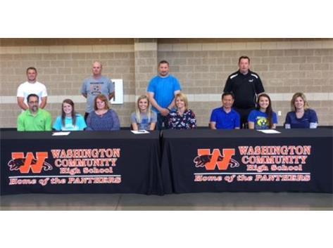 College Signings Paige Craig, Lauren Ely, Macy Sophanavong