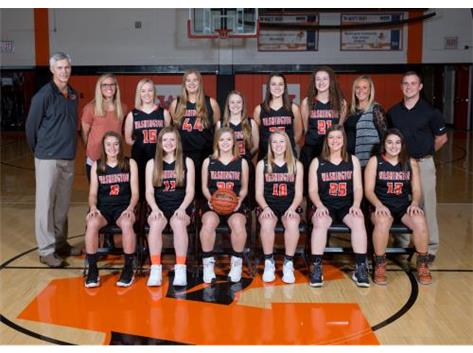 2017-2018 Girl Varsity Basketball Team   Head Coach Kim Barth
