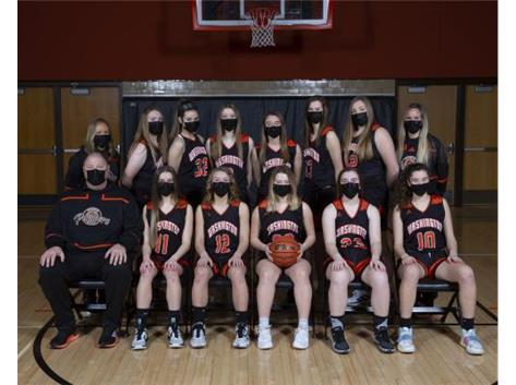 2020-2021 Girls Varsity Basketball     Head Coach Barth
