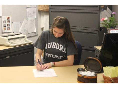 Alyssa May signs with Aurora University