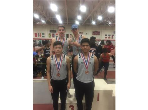 800 Relay Team places 3rd @ Proviso West Invite