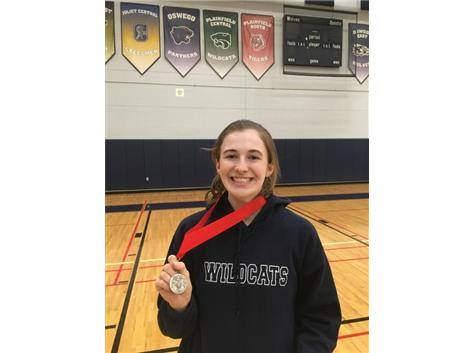 Rachel Jonas #3 Singles takes 2nd place at the Oswego East Invite.