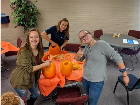 Carving pumpkins