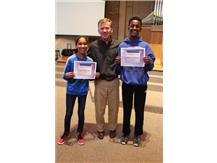 October Middle School Athletes of the Month- Beyah Richardson and Nathanael Ephrem