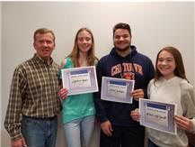 Congratulations to the May Athletes of the Month- Madisen Bayer, Frank Schlaffer, Olivia McDevitt