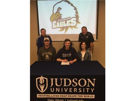 Congratulations to Caleb Thomas who signed a letter of intent to play basketball at Judson University! Caleb hopes to study business and finance while playing for the Eagles!  Way to go, Caleb! We are proud of you!