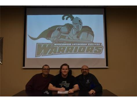 Congratulations to Theron Dorsey who has signed a letter of intent to play football at Wisconsin Lutheran College.