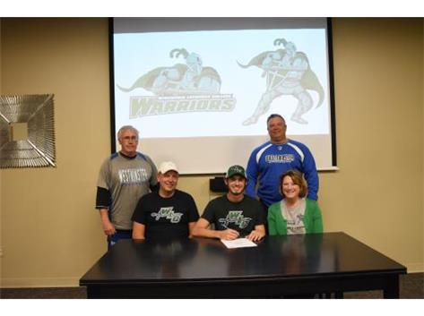 Congratulations to Matthew Schulenburg who signed a letter of intent to play baseball for the Wisconsin Lutheran Warriors!