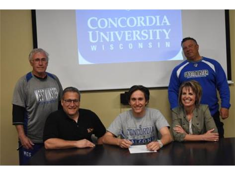 Congratulations to Mason Runkel who signed a letter of intent to play baseball at Concordia University in Wisconsin.