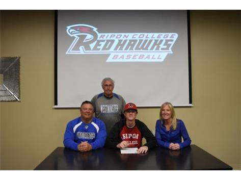 Congratulations to Andrew Kurcz who signed a letter of intent to play baseball for the Red Hawks of Ripon College.