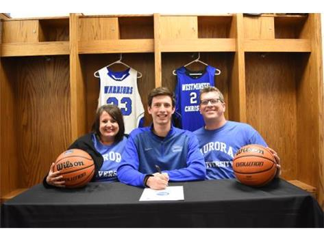 Congratulations to Ben Versluys who has signed a letter of intent to play basketball for Aurora University.