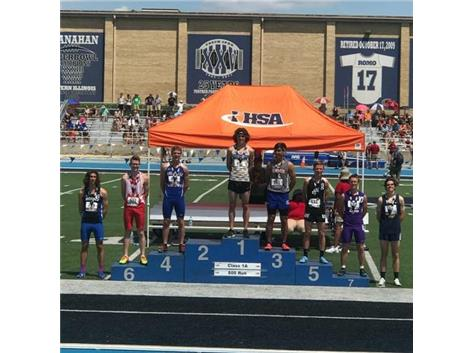 Congratulations to Jason Yaccino's 8th place finish at the IHSA State Track and Field competition on Saturday, May 26.Jason ran the 800-meter run in 1:57.05. Way to go, Jason!